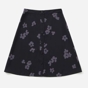 Everlane Goweave Flowered Swing Skirt, Sz 6
